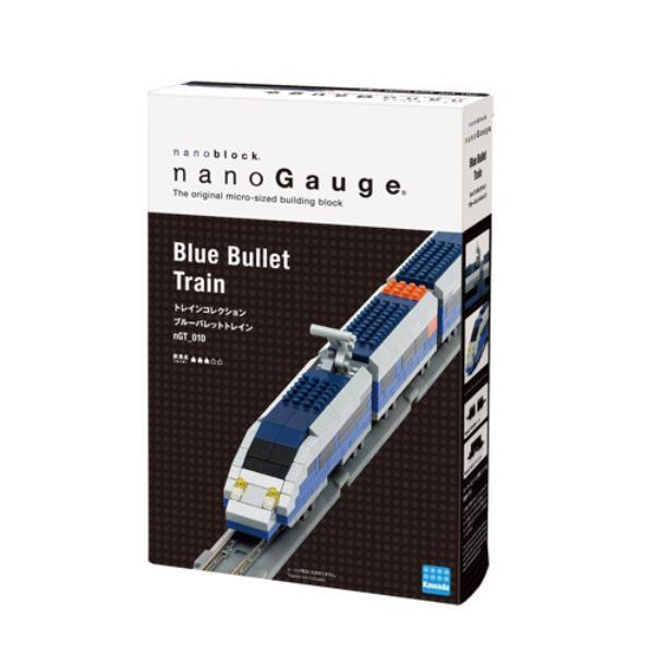 Nanoblock迷你積木 nanogauge 列車收藏 藍