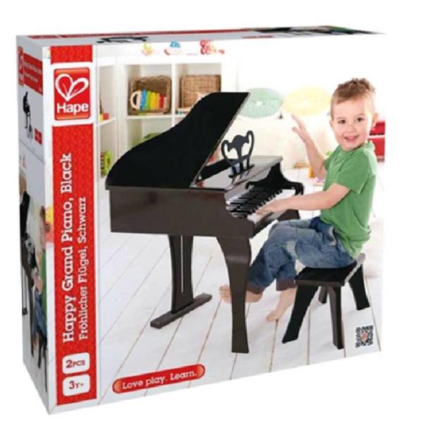 【德國 Hape】歡樂童玩 - 小小音樂家黑色古典大鋼琴