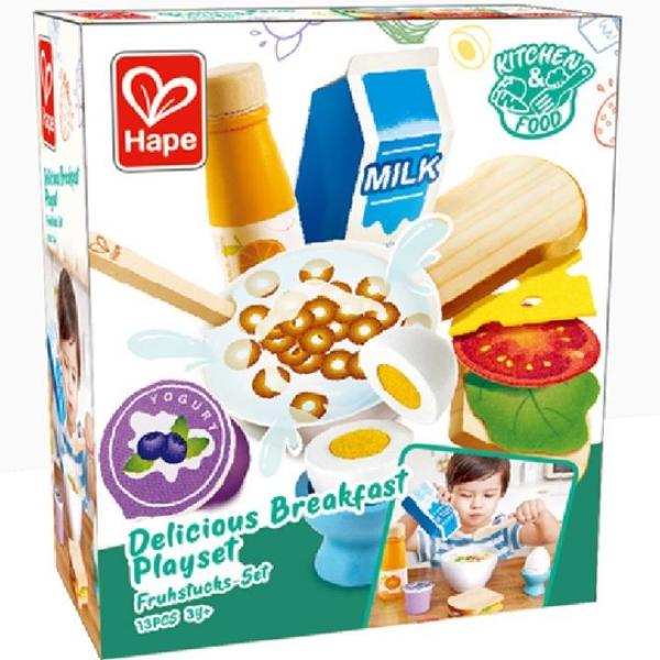 【德國 Hape】精緻木玩 - 美味早餐組