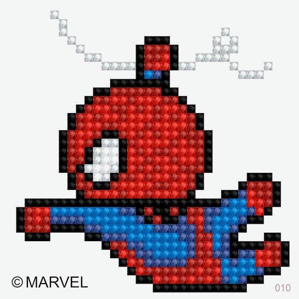 鑽石畫貼紙型飛翔的蜘蛛人