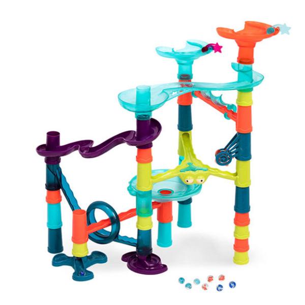 【美國 B.Toys 感統玩具】軌道球積木-星際交流道(38pcs) BX1731Z