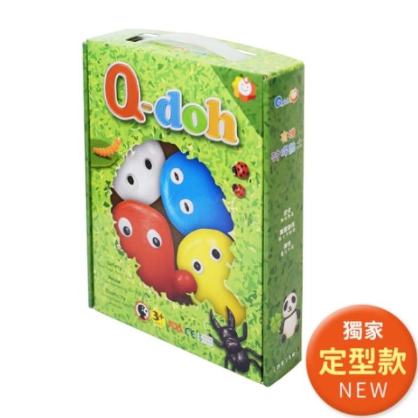 【Q-doh】A+B定型矽膠有機黏土(4色工具組)