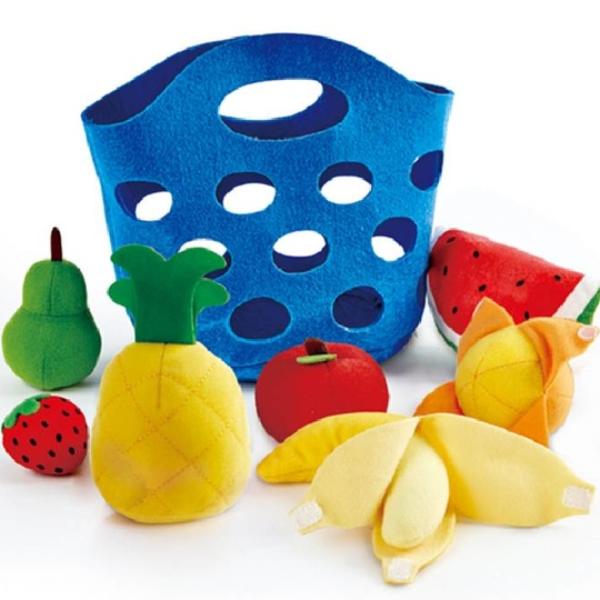 【德國 Hape】精緻木玩 - 幼兒版早餐水果籃