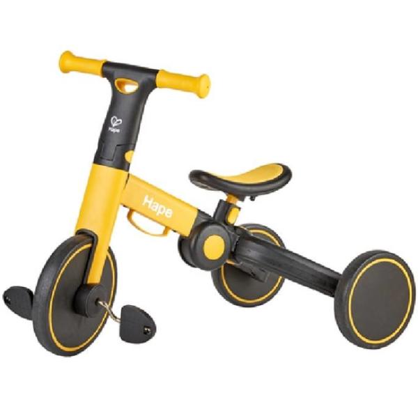 【德國 Hape】精緻童玩 - 多功能滑步車 (黃黑)