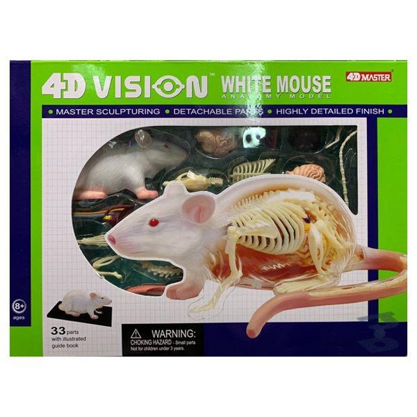 【4D MASTER】立體拼組模型-半透視-白老鼠 26002