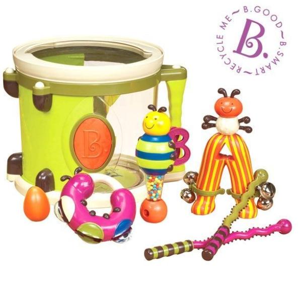 【美國B.Toys感統玩具】砰砰砰打擊樂團 BT68605