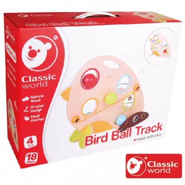 【德國 classic world 客來喜】經典木玩-木製小鳥趣味滾球 CLA3319