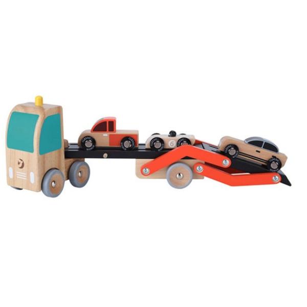 【德國 classic world 客來喜】經典木玩-兒童拼裝雙層卡車CLA53771