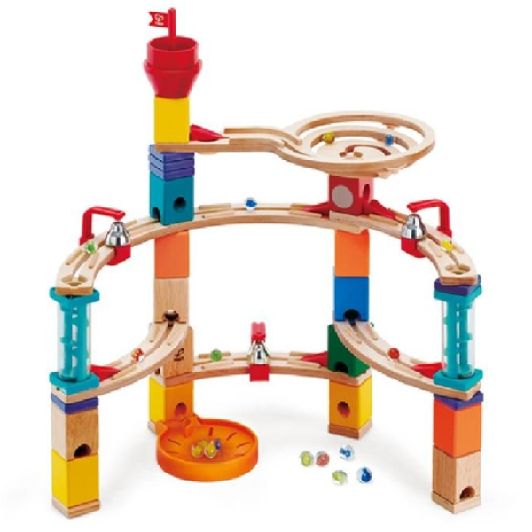 【德國 Hape】精緻木玩 - 城堡躲藏軌道遊戲組