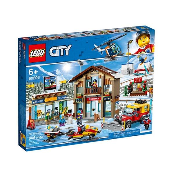【LEGO 樂高積木】城市 City 系列 - 冬季滑雪度假村(806pcs)