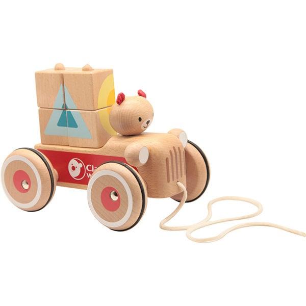 【德國 classic world 客來喜】經典木玩-可可手拉車CLA53573