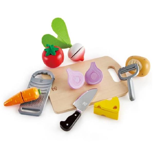 【德國 Hape】精緻木玩 - 烹飪食物切切樂