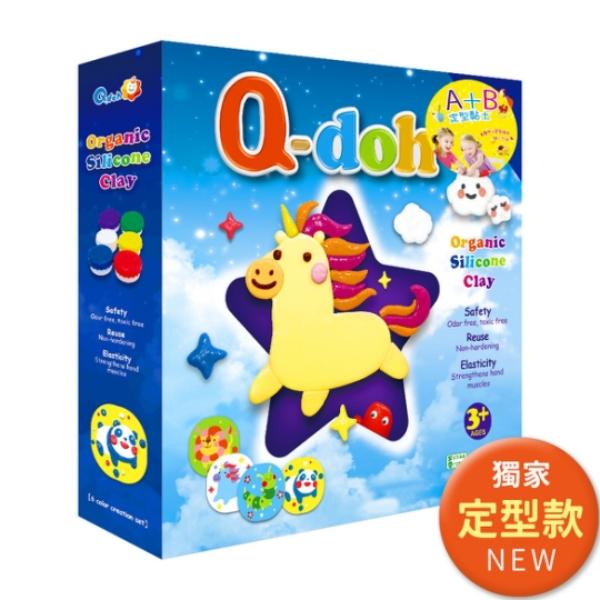 【Q-doh】A+B定型矽膠有機黏土(6色創作板組)